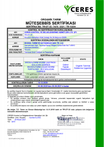 EkosolFarm Ceres Sertifika 2021 TR-10204 21.04.28
